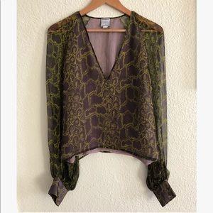 Herve Leger silk sheer top sz: 8
